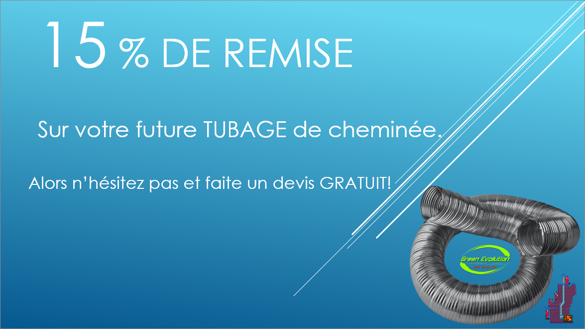 REDUCTION TUBAGE DE CHEMINEE