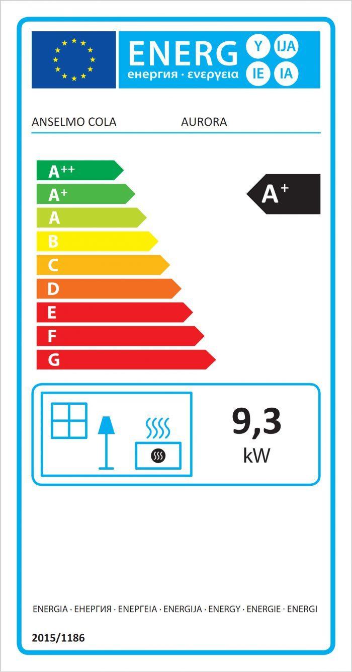 Poele a Pellet Cola Aurora_Energy Label