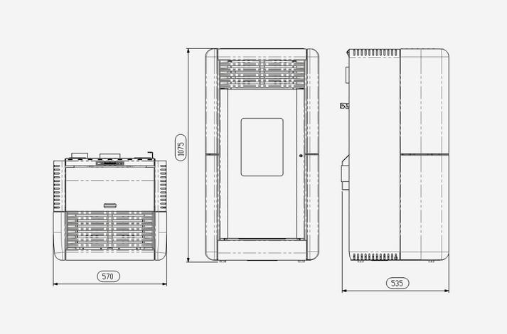 po le pellets calla canalisable po le pellet canalisable. Black Bedroom Furniture Sets. Home Design Ideas
