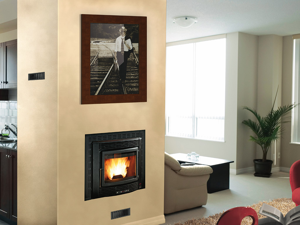 inserts pellets comfort maxi extraflame lanordica. Black Bedroom Furniture Sets. Home Design Ideas