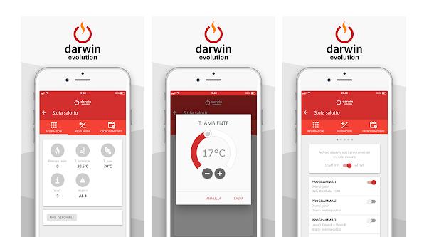 Option WIFI App Darwin poêle a pellets