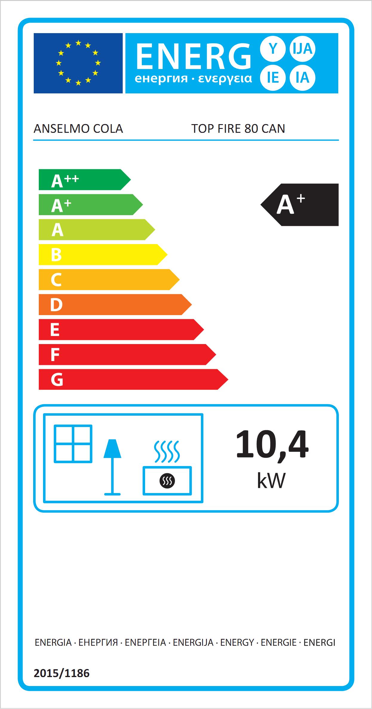 Insert à pellets Top Fire 80 Canalisable Eco Label