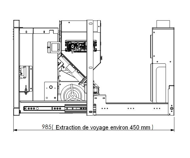 Insert a pellet Topfire70 dimensions extraction de voyage environ