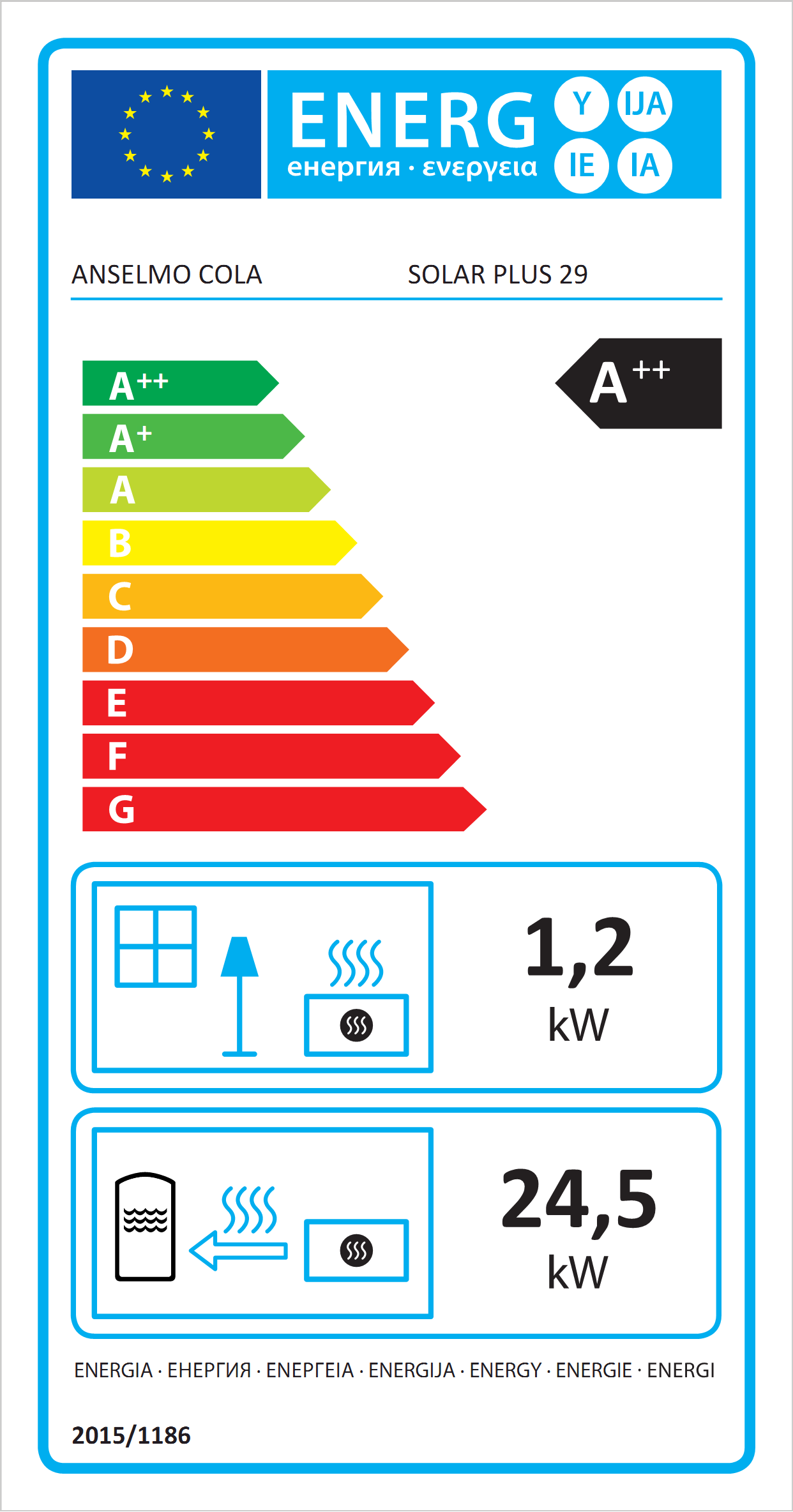Solar Plus 29 Poêle à Pellets hydro Eco Label