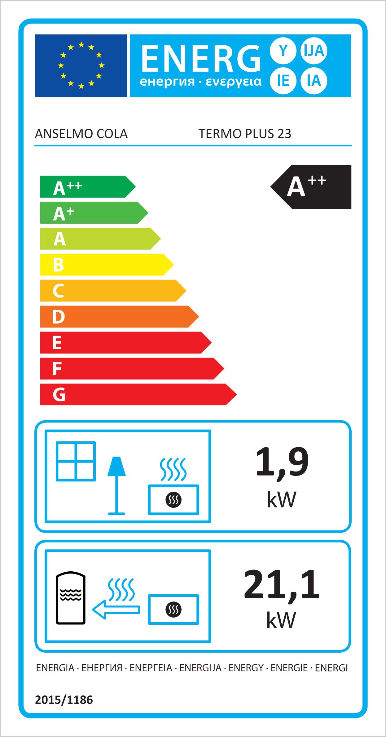 Thermo Plus 23 Poêle à Pellets hydro Eco label