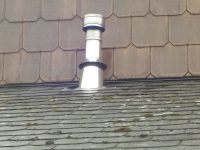 Installation tubage de cheminee