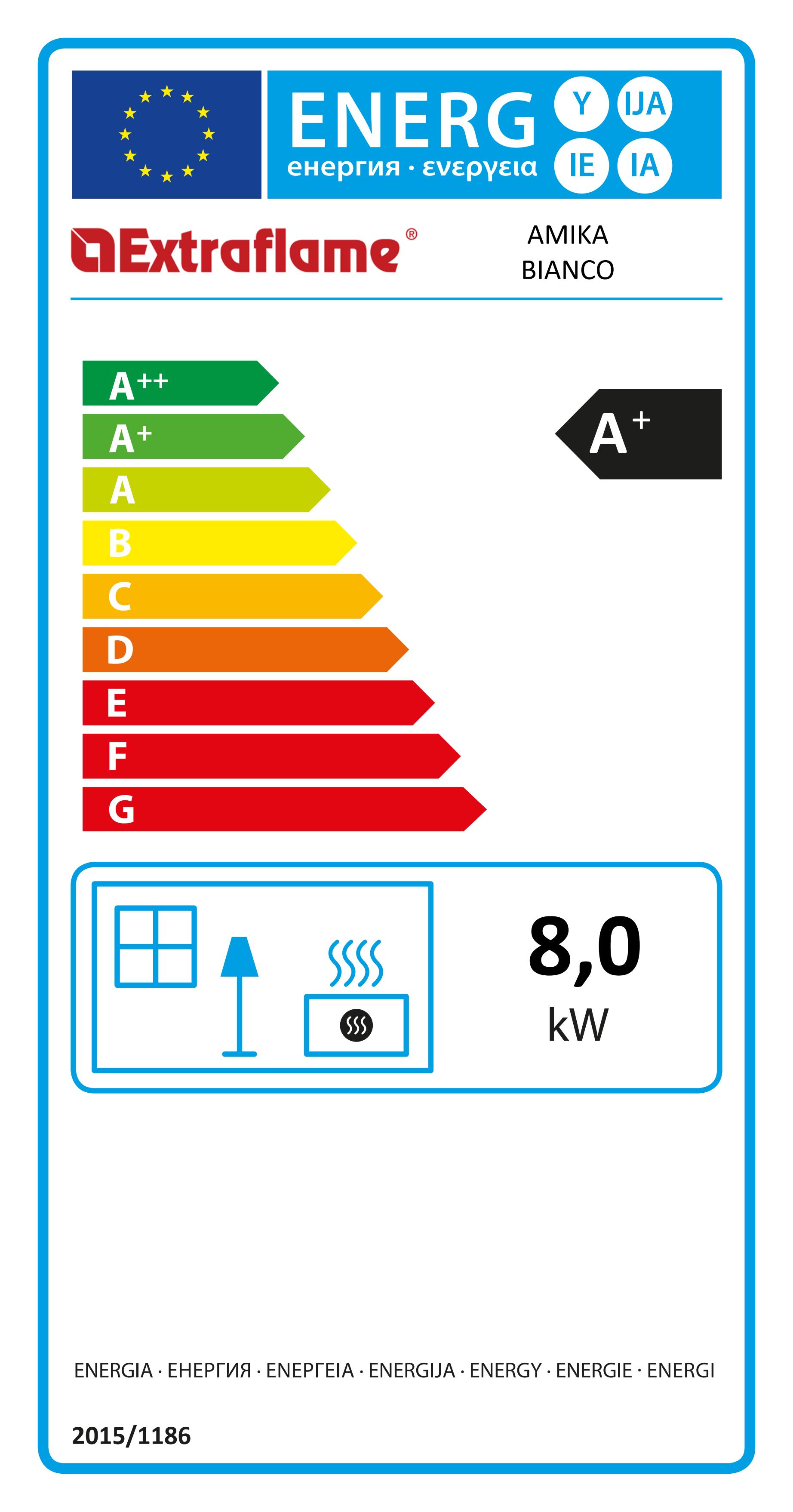 Poêle à pellets Amika Energy label blanc