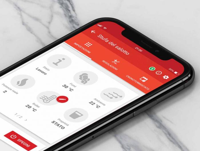 Contrôlez votre poêle à distance avec une application mobile