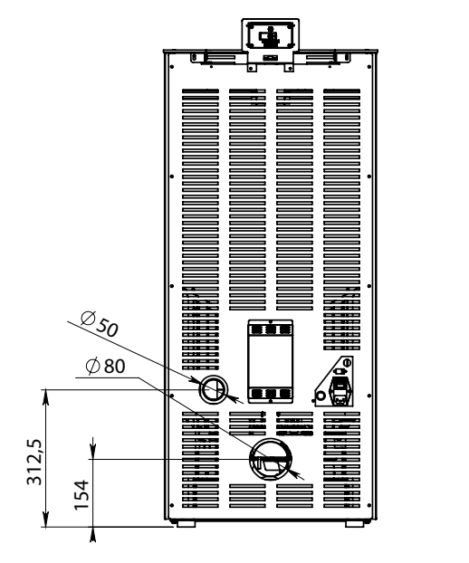 Elettra Evo Plus poêle a pellet dimensions 3